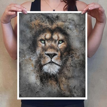 Lion - Tirage numéroté - Sandrot Édition